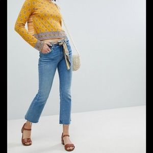 Free People | Belt Out Crop Bootcut Jeans